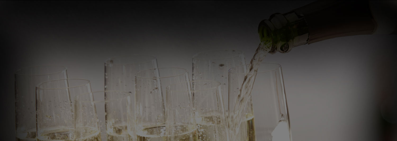 Champagne Glassware Rental