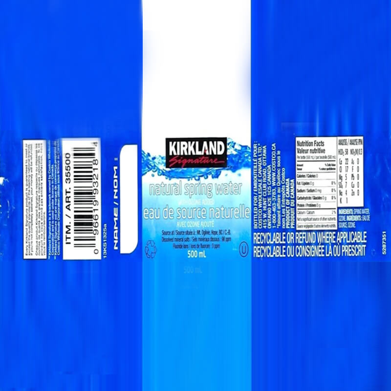 500 mL Kirkland Spring Water - 180drinks
