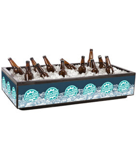 48 Qt Rectangle Countertop Beverage Tub Cooler | Merchandiser