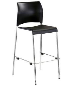 Black Bar Stool With Backrest