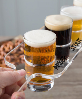 Clear-Beer-Flight-Paddle-Rental