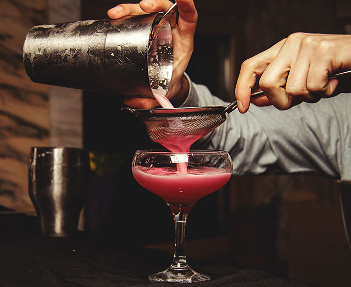 shaking and straining technique in our craft cocktail classes