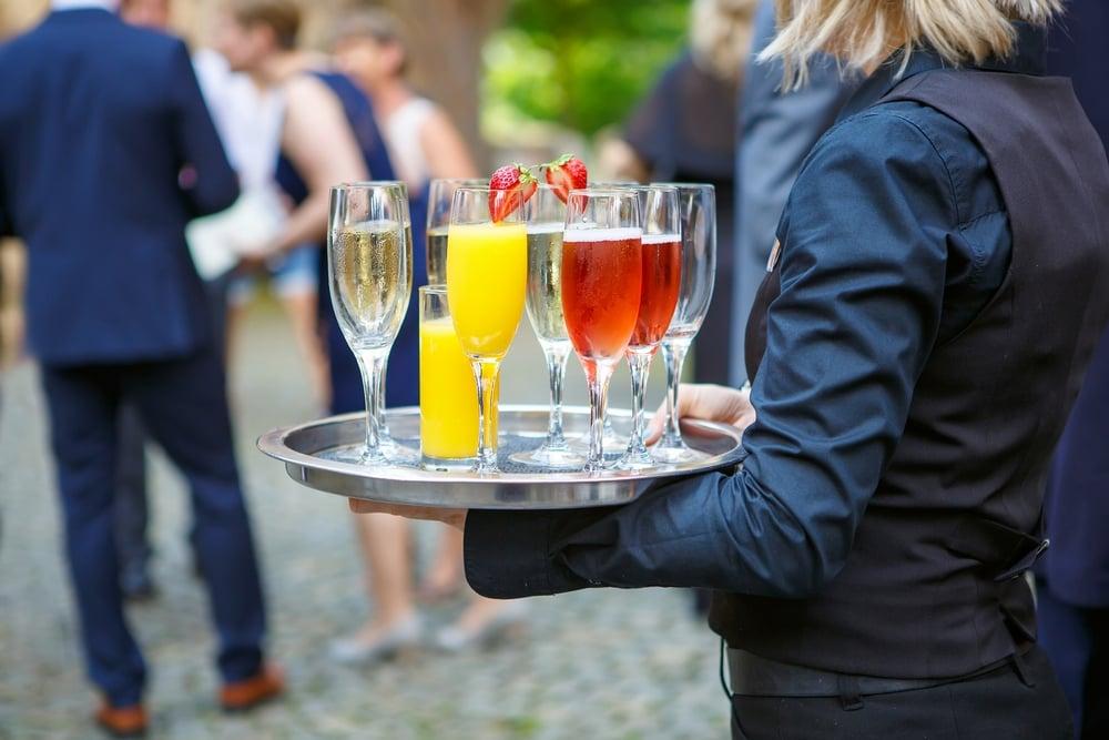 cocktail waiter for wedding reception