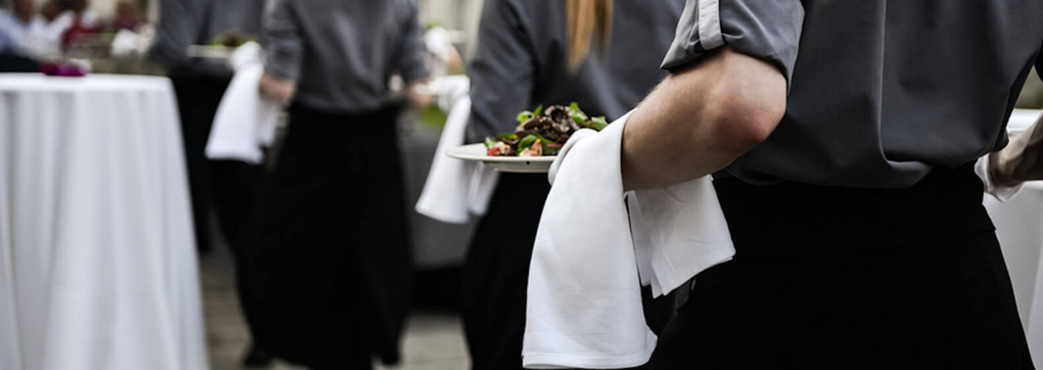 wait staff for hire carrying plates of food in toronto ontario
