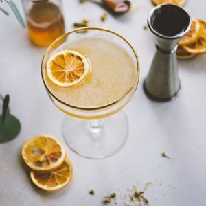 Bees Knees Cocktail With Honey Syrup