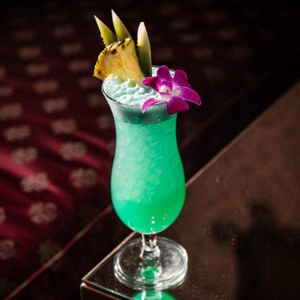 Blue Hawaii With Blue Curaçao Syrup