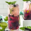 Blueberry Mojito With Blueberry Syrup