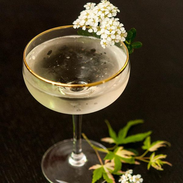 Elderflower Syrup And Prosecco Cocktail