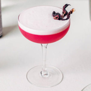Hibiscus Sour With Hibiscus Syrup