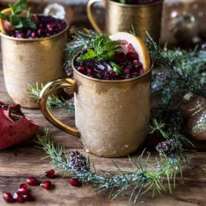 Pomegranate Moscow Mule With Pomegranate Syrup