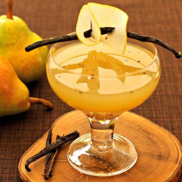 Pear Vanilla Martini With Vanilla Syrup