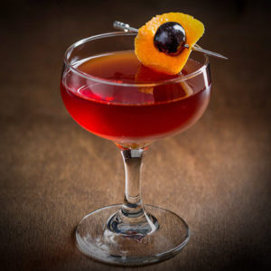 Blood And Sand Cocktail With Cherry Syrup