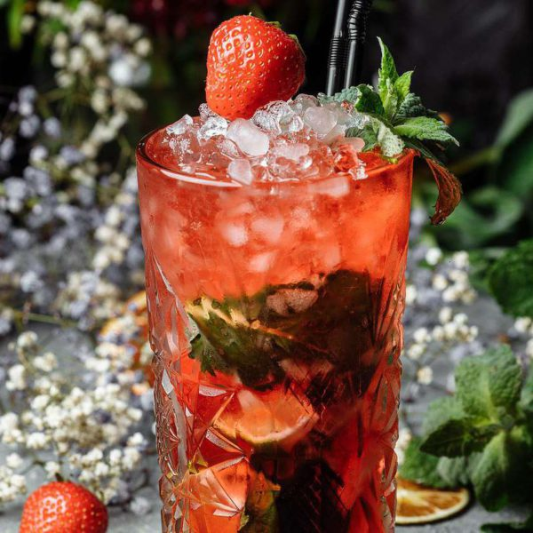 Strawberry Mojito With Strawberry Syrup
